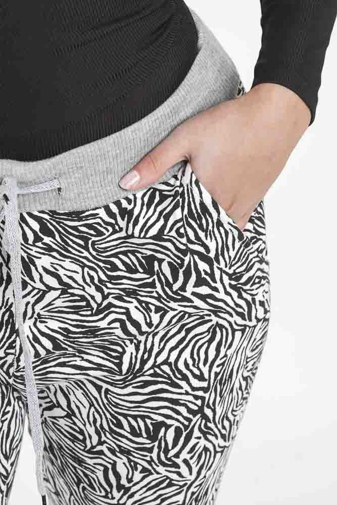 Tyler Zebra Print Drawstring Trouser - Love My Fashions - Womens Fashions UK