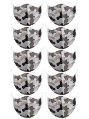 Camouflage Print Cotton Face Masks Cover