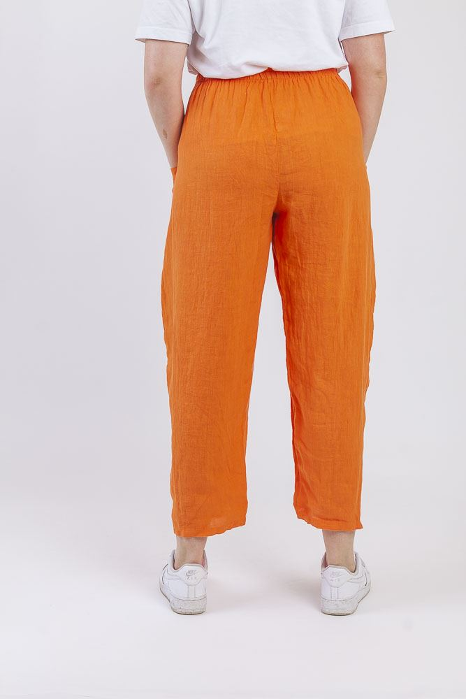Chana Linen Paneled Peg Leg Trousers - Love My Fashions - Womens Fashions UK