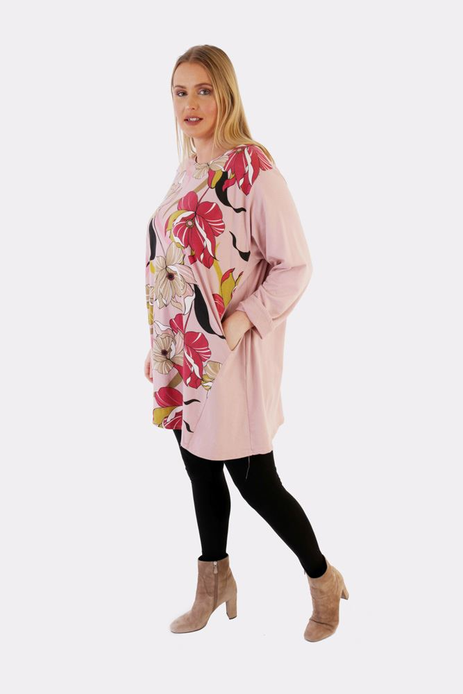 Stacy Cotton Graphic Floral Top - Love My Fashions - Womens Fashions UK