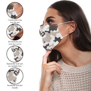 Camouflage Print Cotton Face Mask