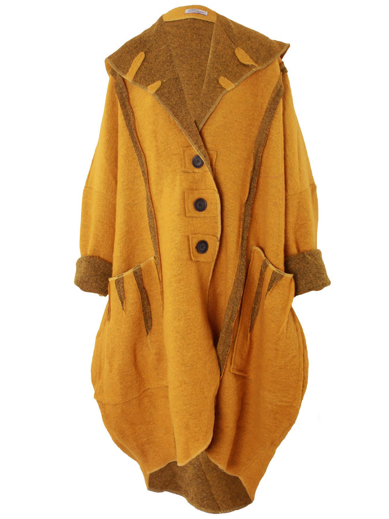 Sharon Lana Wool Quirky Oversized Collar Coat