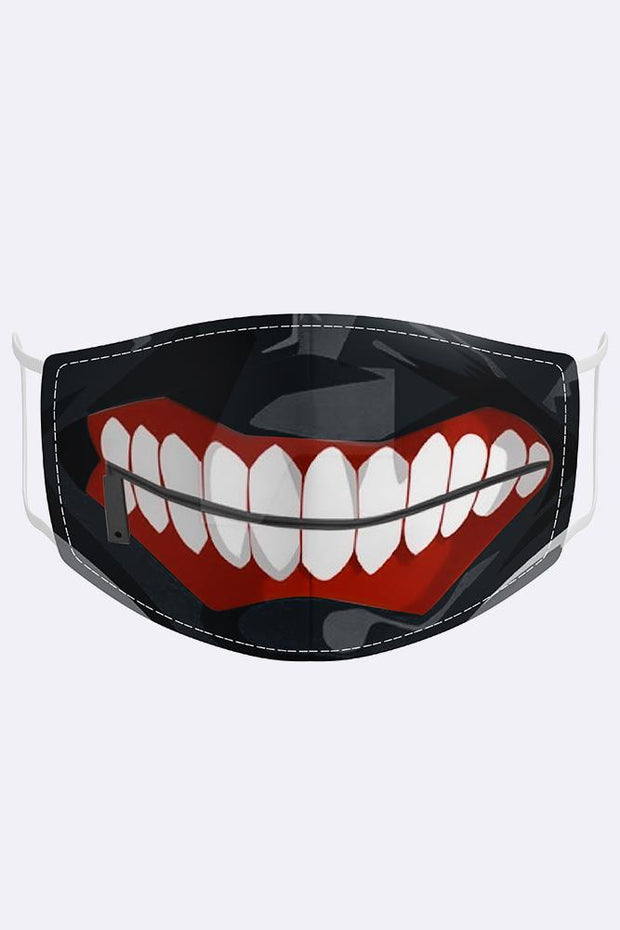 Unisex Abstract Tokyo Ghoul Digital Print 2 Ply Cotton Face Mask Cover