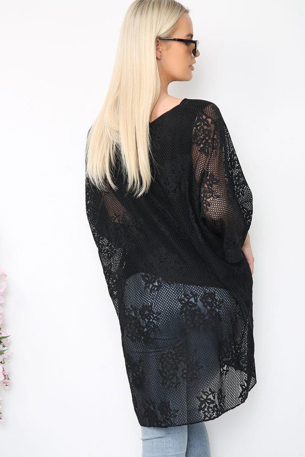 Italian Net Floral Lace Lined Dress