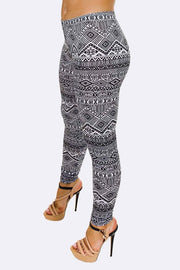 Naomi Aztec Black And White Print Legging - Love My Fashions - Womens Fashions UK