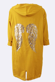 Rylie Foil Print Angel Wings Drawstring Cardigan - Love My Fashions - Womens Fashions UK