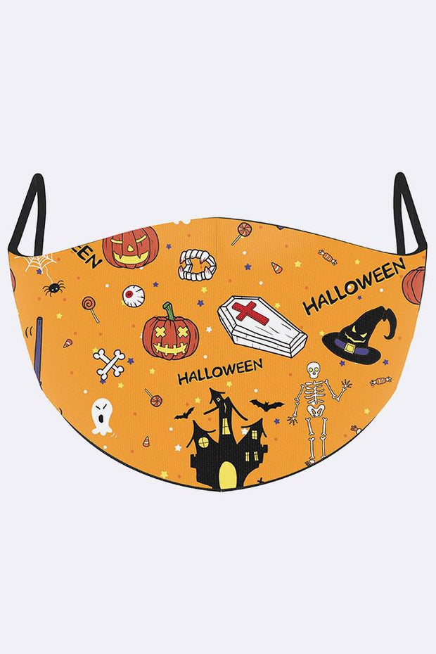 Funny Halloween Cartoon Print Face Mask Cover