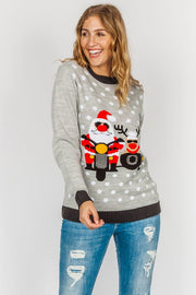 Edward Santa Polka Dot Knitted Christmas Jumper - Love My Fashions - Womens Fashions UK