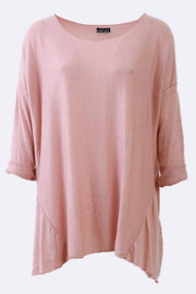 Mallory Plain Hanky Hem Tunic Top