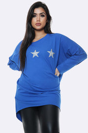 Italian 3 Star Diamante Motif Top