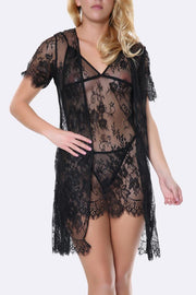 Scallop Lace Short Slip & Gown Lingerie Set