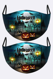 Halloween Print Fashion Face Mask Cover