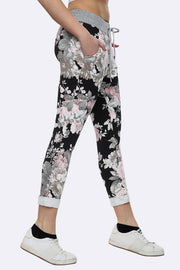 Millie-rose Cotton Rose Print Pocket Foldover Hem Trouser - Love My Fashions - Womens Fashions UK