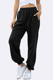 Womens Oversized Full Length Close Hem Jogging Bottom_GRWO