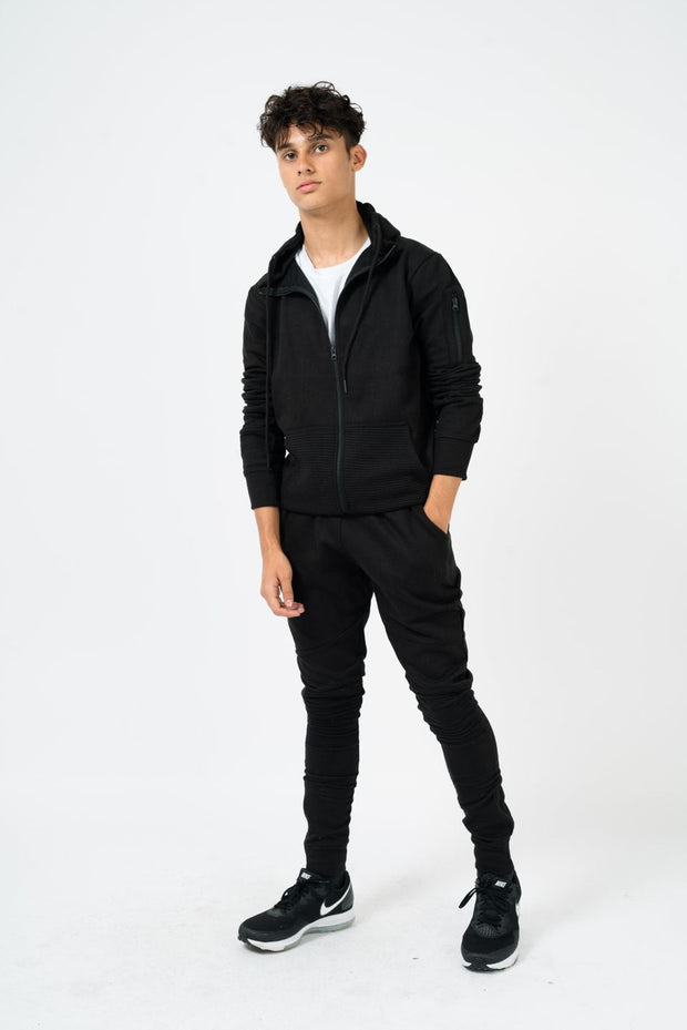 Mens Ribbed Panel Tracksuit - Love My Fashions - Womens Fashions UK