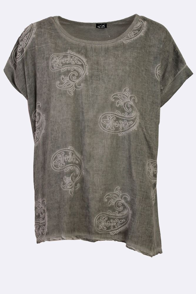 Reina Cotton Paisley Embroidered Top - Love My Fashions - Womens Fashions UK