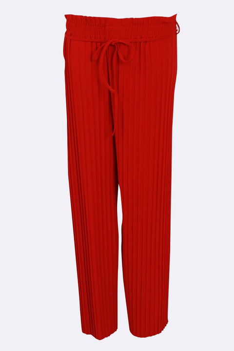 Kelly Wide Leg Tie Belt Pleated Trousers - Love My Fashions - Womens Fashions UK