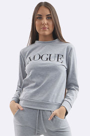 Zoey Plain Vogue Print Tracksuits - Love My Fashions - Womens Fashions UK