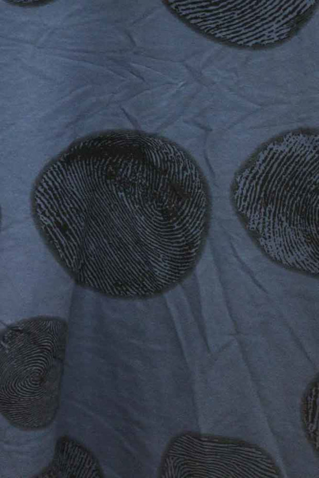 Italian Circle Finger Print Pockets Top