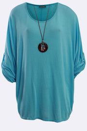 Lyla Italian Plain Necklace Top - Love My Fashions - Womens Fashions UK