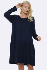 Italian Soft Feel Plain Panelled Dress