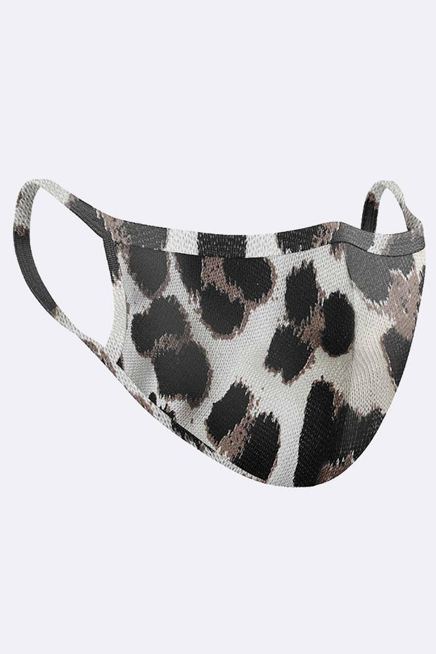 Leopard Print Cotton Face Mask Cover