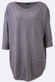 Alayna Beeds Sides Two Front Pocket Stripe Neckline Jumper - Love My Fashions - Womens Fashions UK