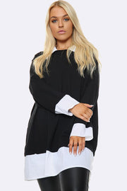 Italian Mock Shirt Jumper Top