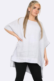 Italian Linen Side Slit Top