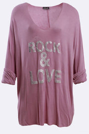 Lola-rose Italian Rock & Love Ribbed Tunic Top