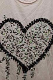 Italian Sequin Heart Motif Top