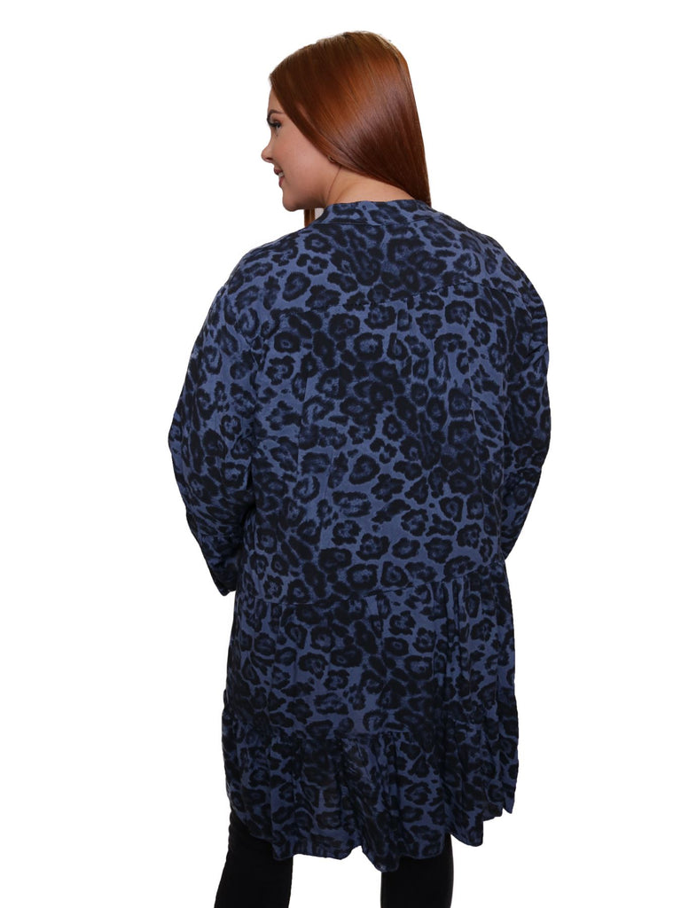 Sienna Leopard Print Tunic Top - Love My Fashions - Womens Fashions UK