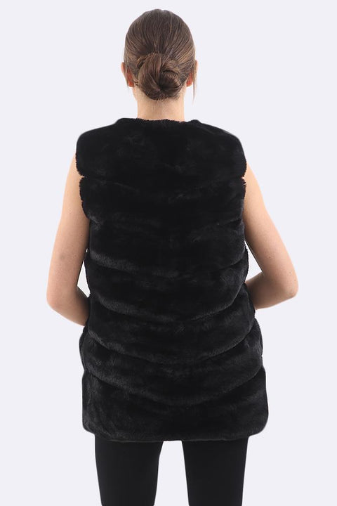 Weronika Sleeveless Fluffy Vest Gilet
