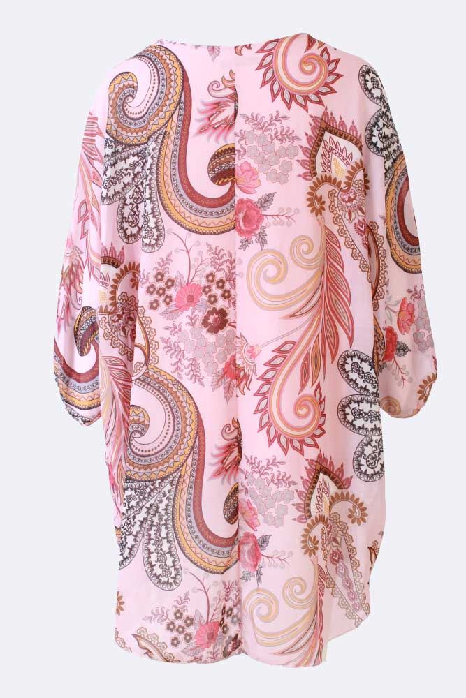 Ella-mae Batwing Paisley Flower Print Top - Love My Fashions - Womens Fashions UK