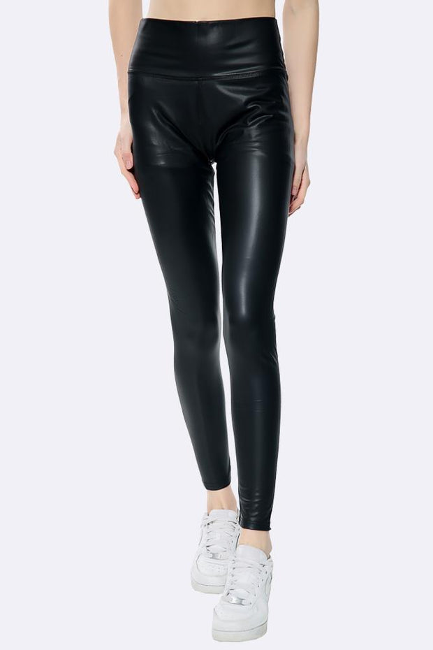 High Waist Wet Look Legging
