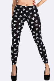 KAYLA Small Skull Print Legging - Love My Fashions - Womens Fashions UK