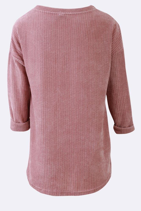 Kirsty Knitted Stripes Tunic Top