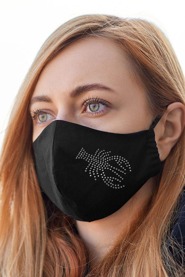 Diamante Zodiac Pattern Fashion Face Masks