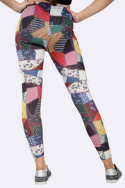 Milly Patchwork Print Full Length Leggings - Love My Fashions - Womens Fashions UK