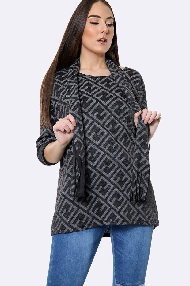 Seamless Vector Pattern Scarf Top