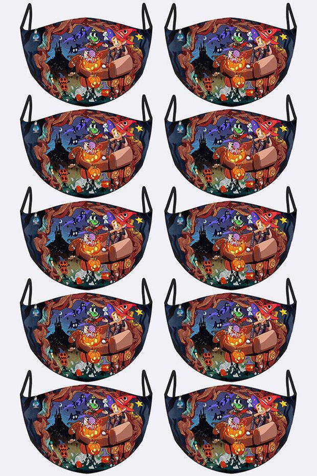 Spooky Cartoon Print Face Mask Cover