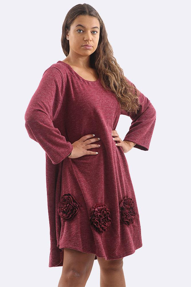 Bushra Linen Flower Patchwork Swing Dress