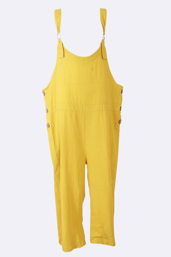 Evelin Linen Dungaree Jumpsuit - Love My Fashions - Womens Fashions UK