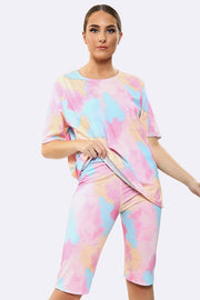 Splash Print Activewear Gym Suit_grwo