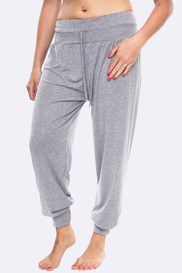 Plain Cuffed Ankle Full Length Alibaba Harem Trouser