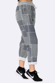 Italian Square Print Trousers