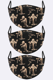 Spooky Mummy Print Face Mask Cover