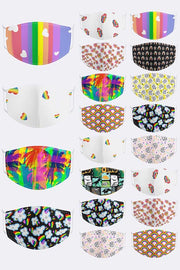Rainbow Print Cotton Face Mask