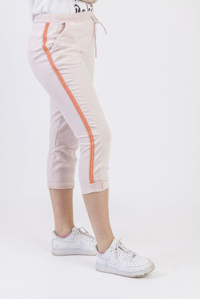 Adrianna Neon Stripe Side Drawstring Trousers - Love My Fashions - Womens Fashions UK