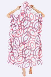Odalys Circle Print Hooded Fleece Poncho Blanket - Love My Fashions - Womens Fashions UK